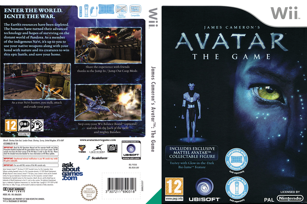 James Cameron's Avatar: The Game Wii coverfullHQ (R5VX41)