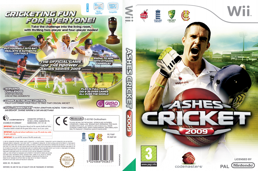 Ashes Cricket 2009 Wii coverfullHQ (R6KU36)