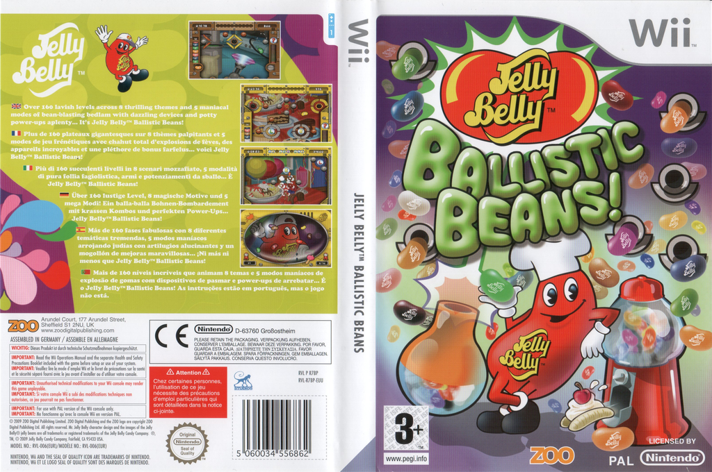 Jelly Belly Ballistic Beans Wii coverfullHQ (R7BP7J)