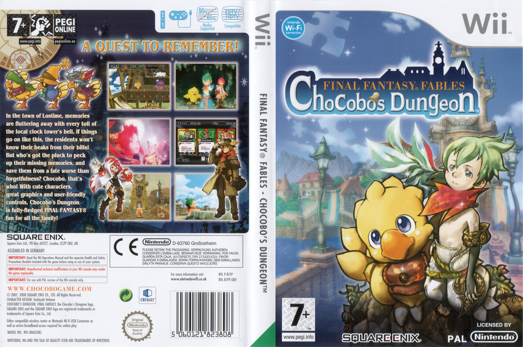 Final Fantasy Fables: Chocobo's Dungeon Wii coverfullHQ (R7FPGD)
