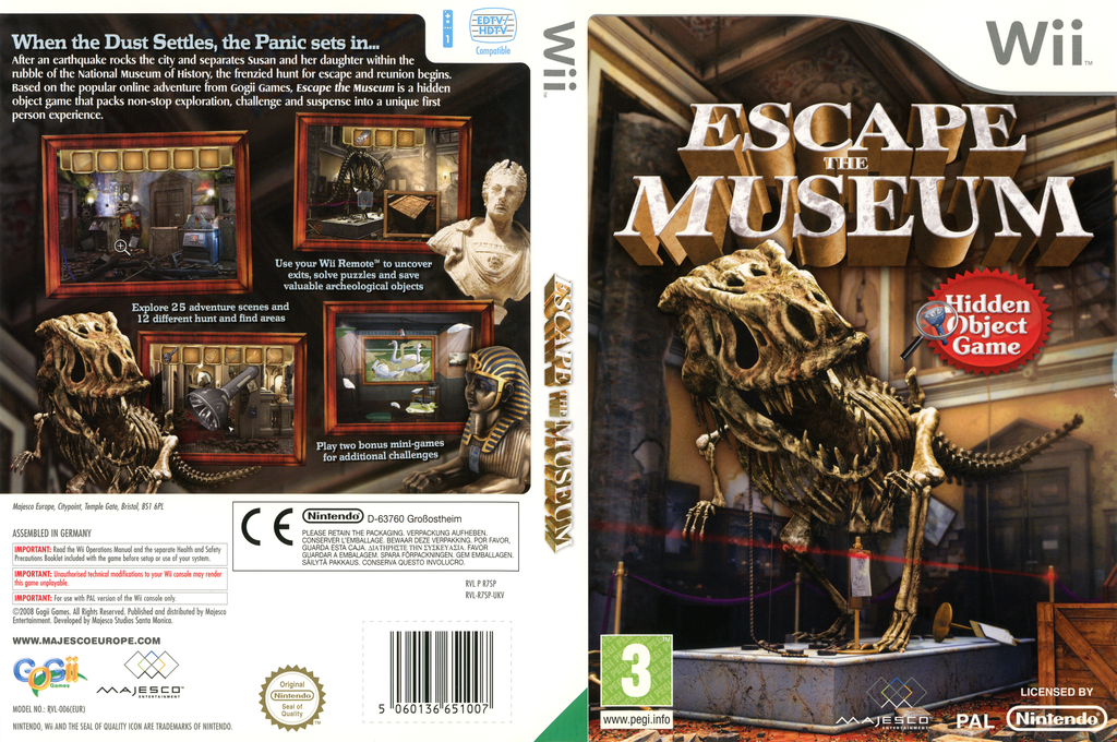 Escape The Museum Wii coverfullHQ (R7SP5G)