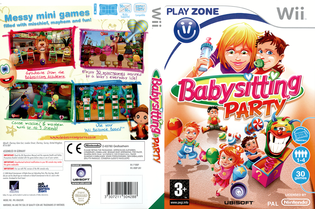 Babysitting Party Wii coverfullHQ (R8BP41)