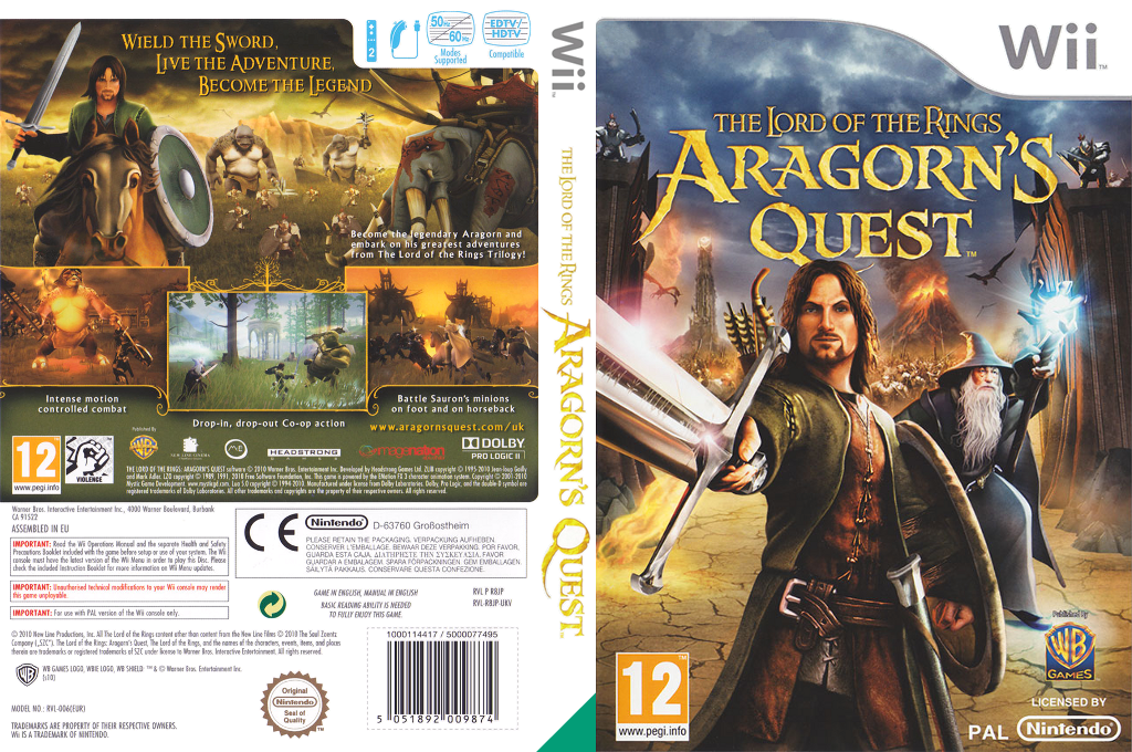The Lord of the Rings: Aragorn's Quest Wii coverfullHQ (R8JPWR)