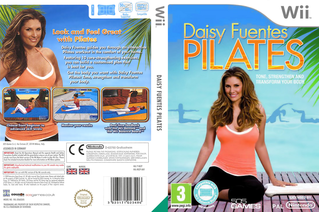 Daisy Fuentes Pilates Wii coverfullHQ (R8ZPGT)