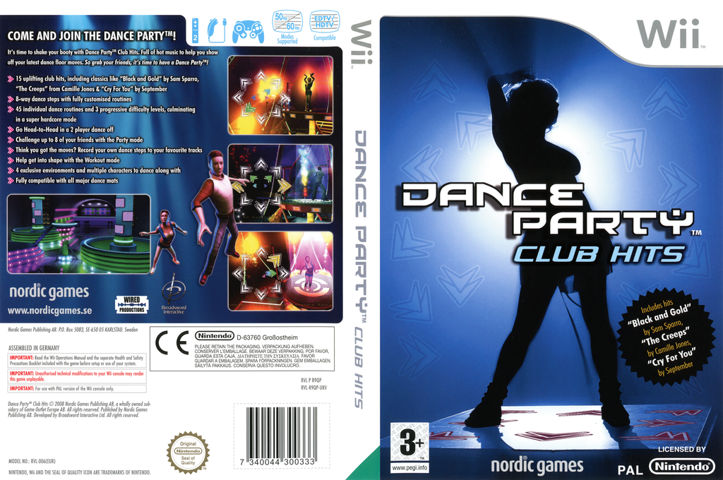 Dance Party Club Hits Wii coverfullHQ (R9QPNG)