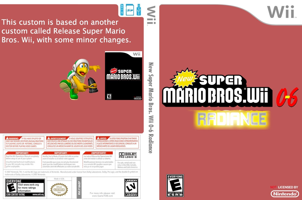 New Super Mario Bros. Wii 0-6 Radiance Wii coverfullHQ (RADP01)
