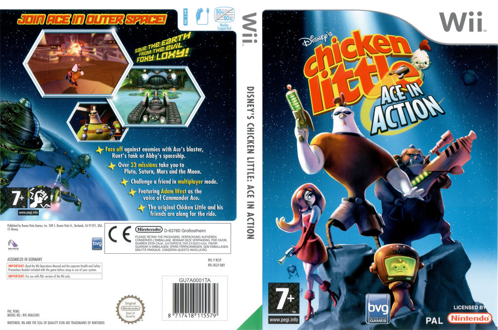 Chicken Little: Ace In Action Wii coverfullHQ (RCLP4Q)