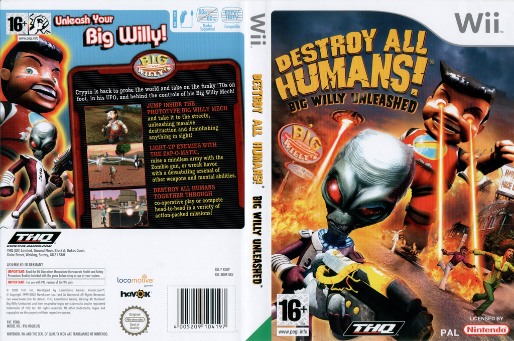 Destroy All Humans! Big Willy Unleashed Wii coverfullHQ (RDHP78)