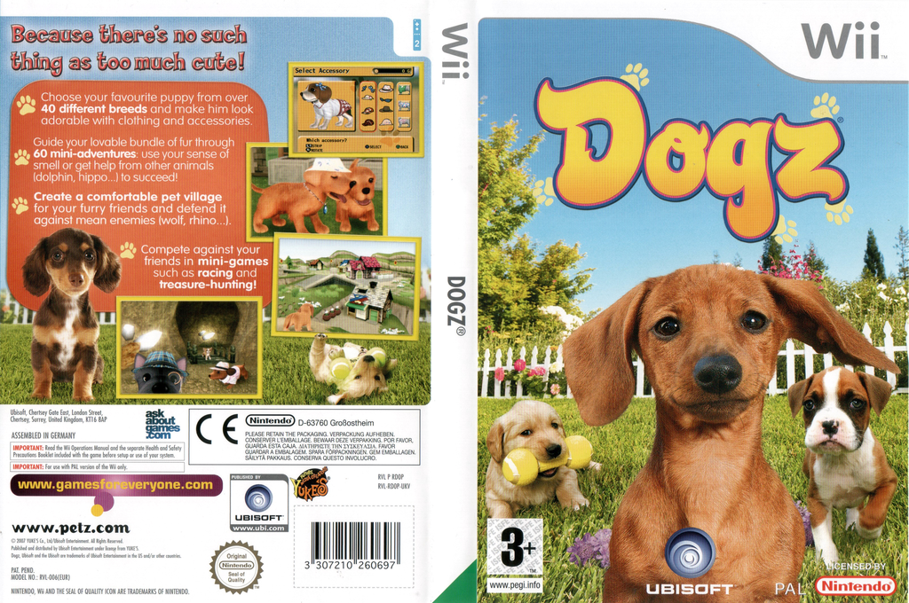 Dogz Wii coverfullHQ (RDOP41)