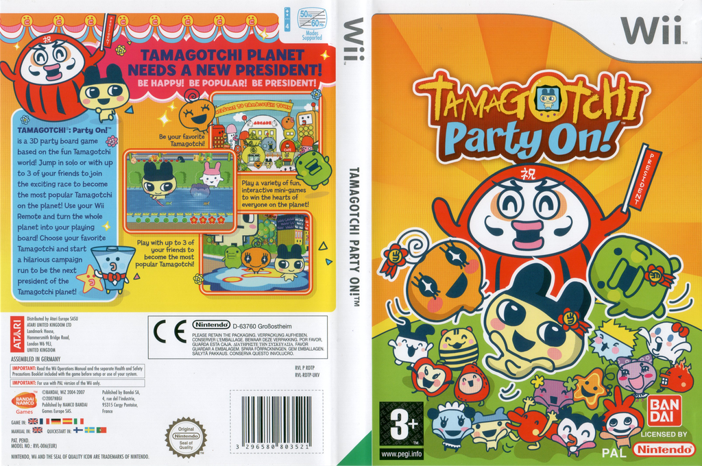 Tamagotchi: Party On! Wii coverfullHQ (RDTPAF)