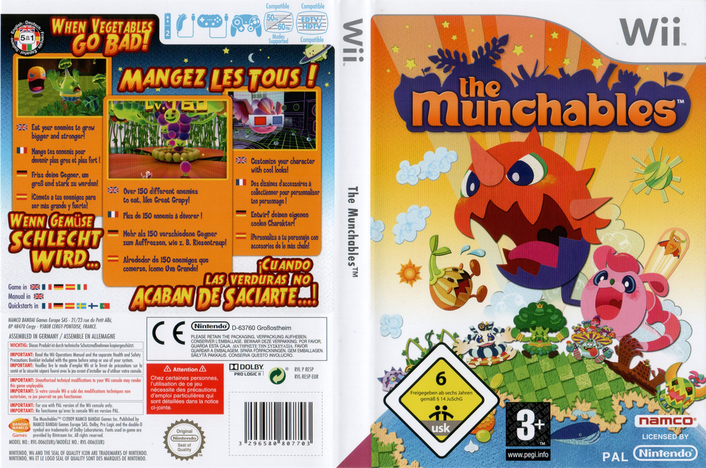 The Munchables Wii coverfullHQ (RE5PAF)
