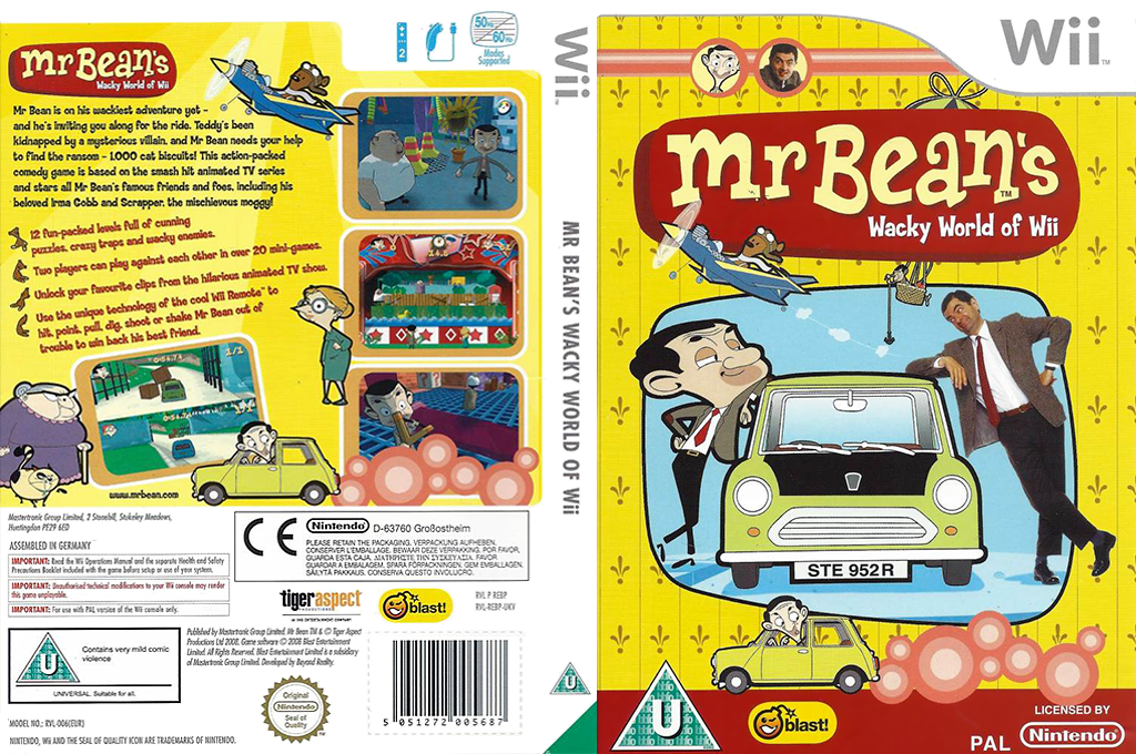 Mr Bean's Wacky World of Wii Wii coverfullHQ (REBPMT)