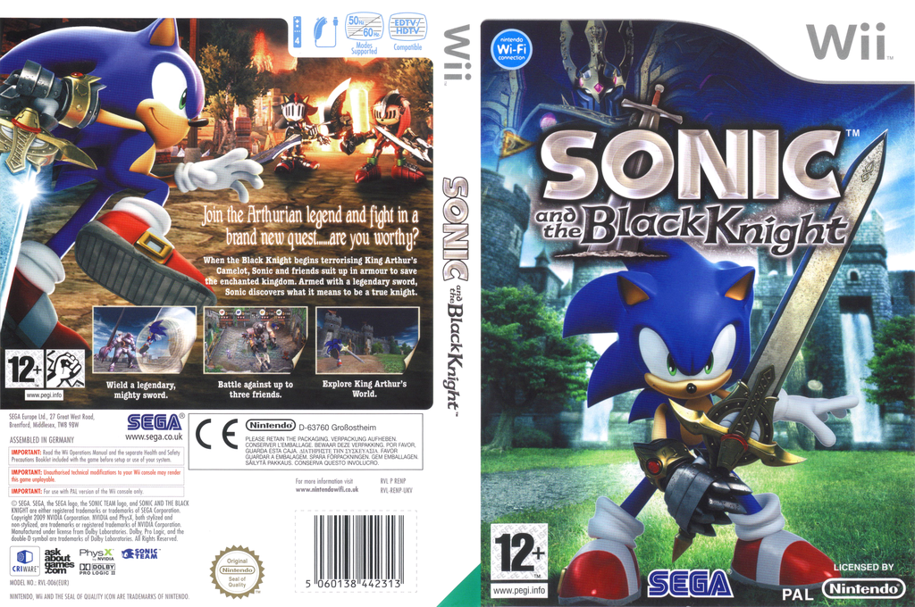 Sonic and the Black Knight Wii coverfullHQ (RENP8P)