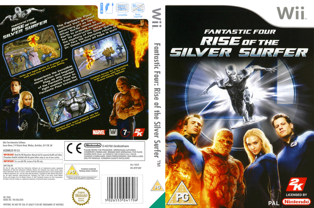 Fantastic Four: Rise of the Silver Surfer Wii coverfullHQ (RF2P54)
