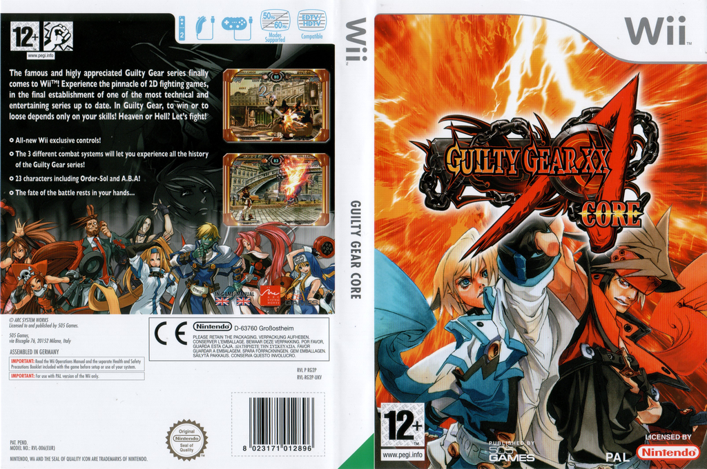 Guilty Gear XX Accent Core Wii coverfullHQ (RG2PGT)