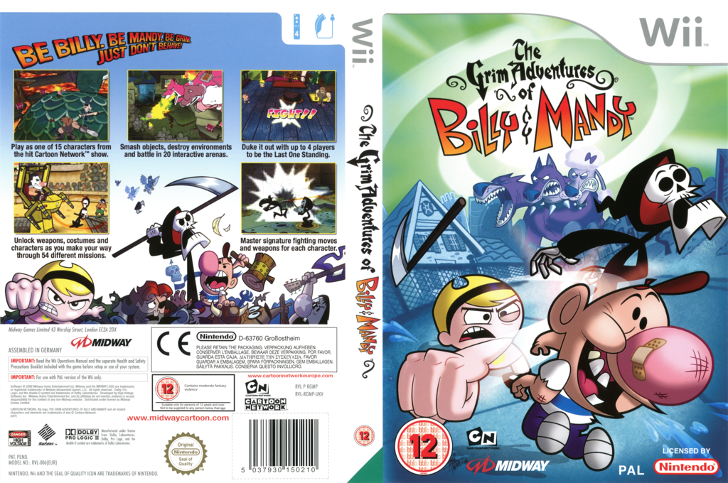 The Grim Adventures of Billy & Mandy Wii coverfullHQ (RGMP5D)