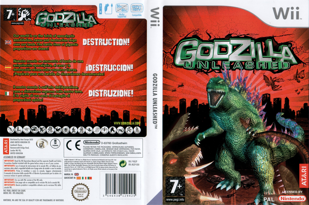 Godzilla Unleashed Wii coverfullHQ (RGZP70)