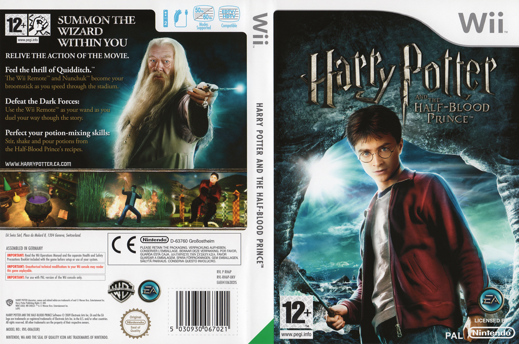 Harry Potter and the Half-Blood Prince Wii coverfullHQ (RH6P69)