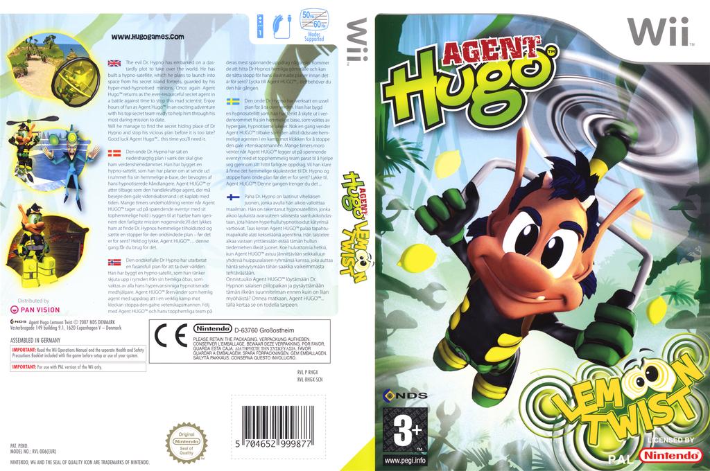 Agent Hugo: Lemoon Twist Wii coverfullHQ (RHGX6Z)