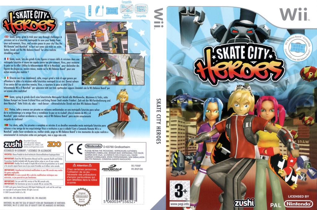 Skate City Heroes Wii coverfullHQ (RHUP7J)