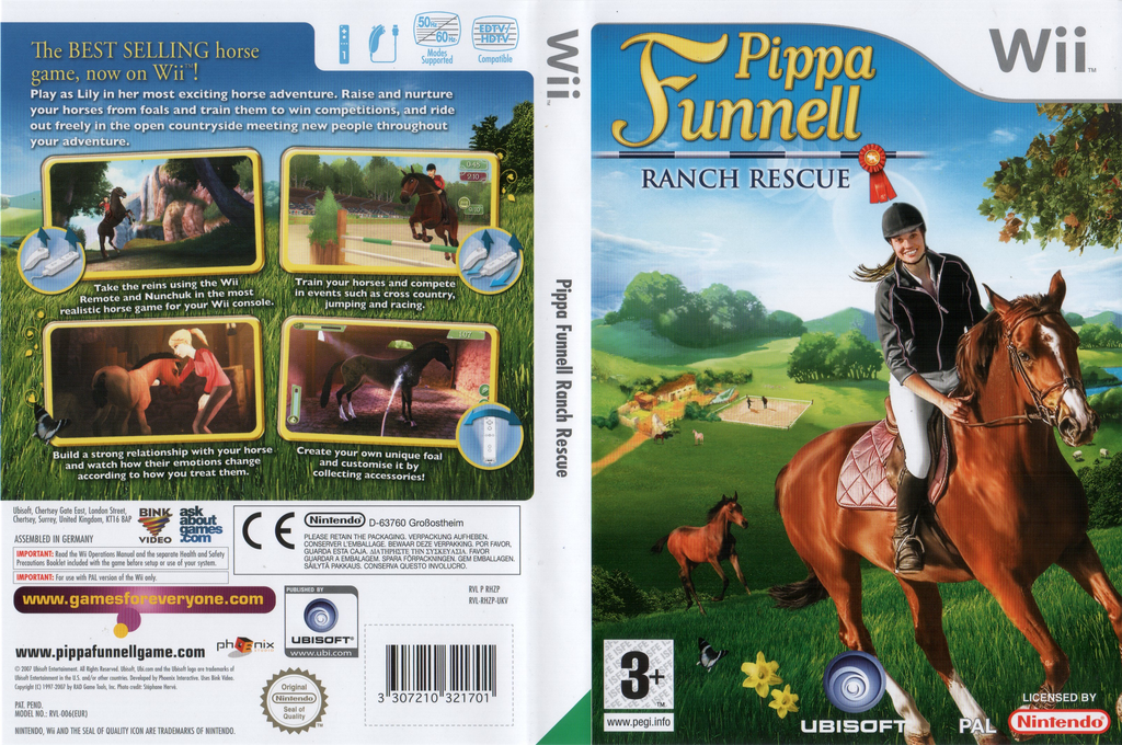 Pippa Funnell: Ranch Rescue Wii coverfullHQ (RHZP41)