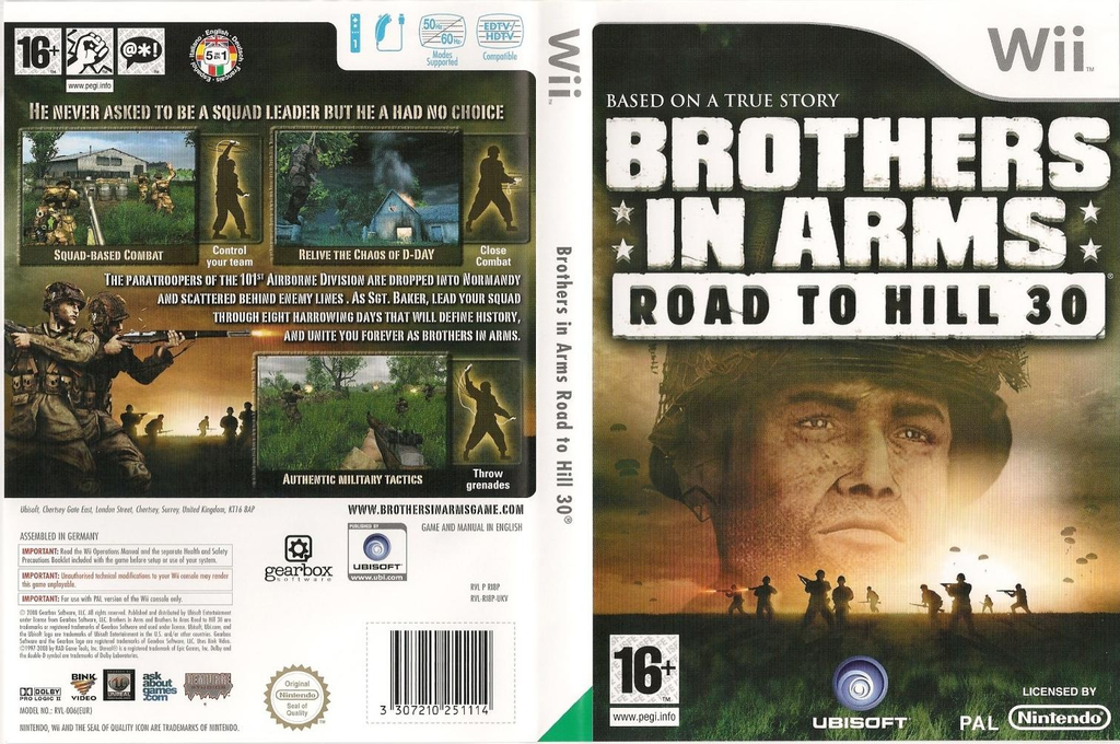 Brothers In Arms: Road To Hill 30 Wii coverfullHQ (RI8P41)