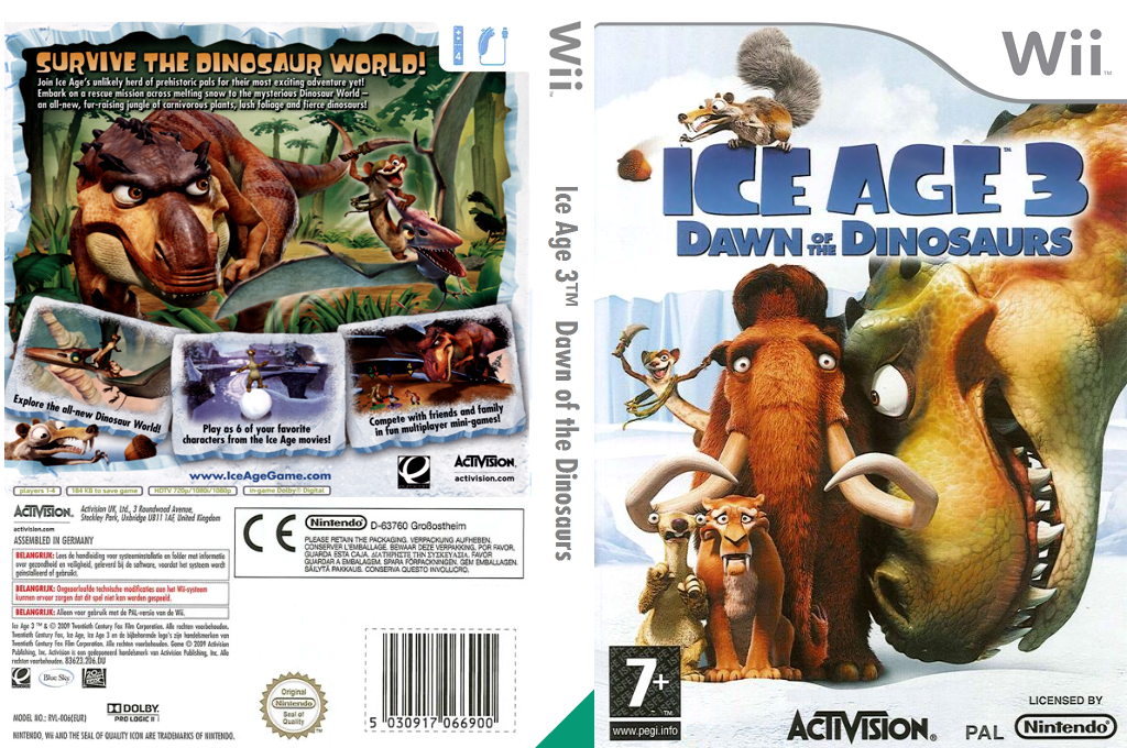 Ice Age 3: Dawn of the Dinosaurs Wii coverfullHQ (RIAI52)