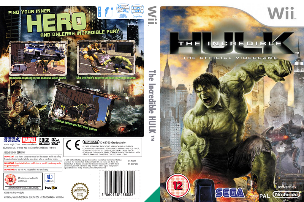 The Incredible Hulk Wii coverfullHQ (RIHP8P)