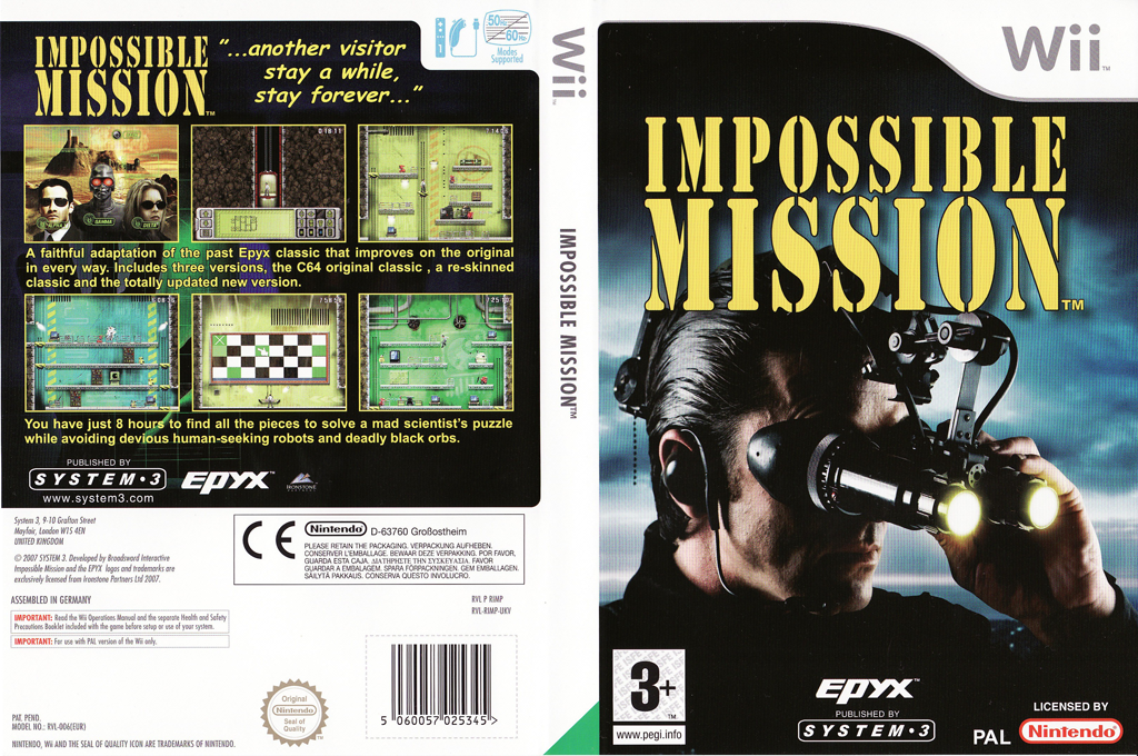 Impossible Mission Wii coverfullHQ (RIMP6M)