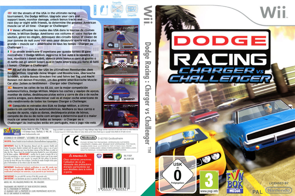 Dodge Racing: Charger vs Challenger Wii coverfullHQ (RIXP7J)