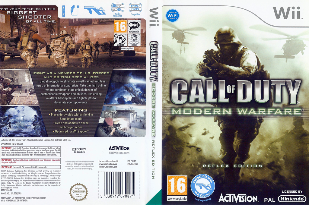 Call of Duty: Modern Warfare - Reflex Edition Wii coverfullHQ (RJAP52)
