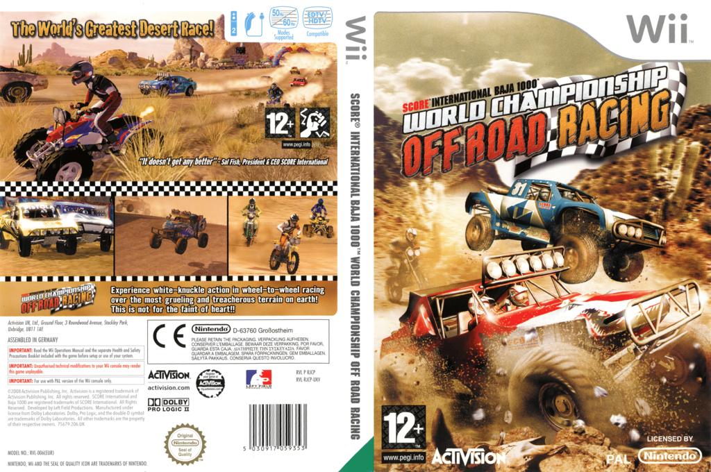 Score International Baja 1000: World Championship Offroad Racing Wii coverfullHQ (RJCP52)