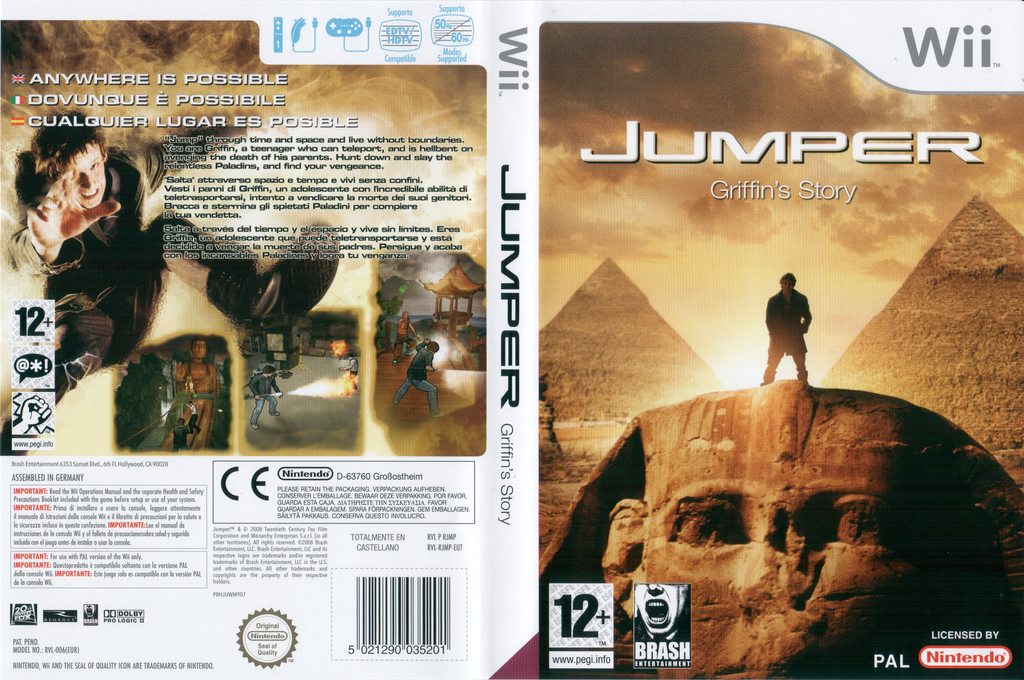 Jumper: Griffin's Story Wii coverfullHQ (RJMPRS)