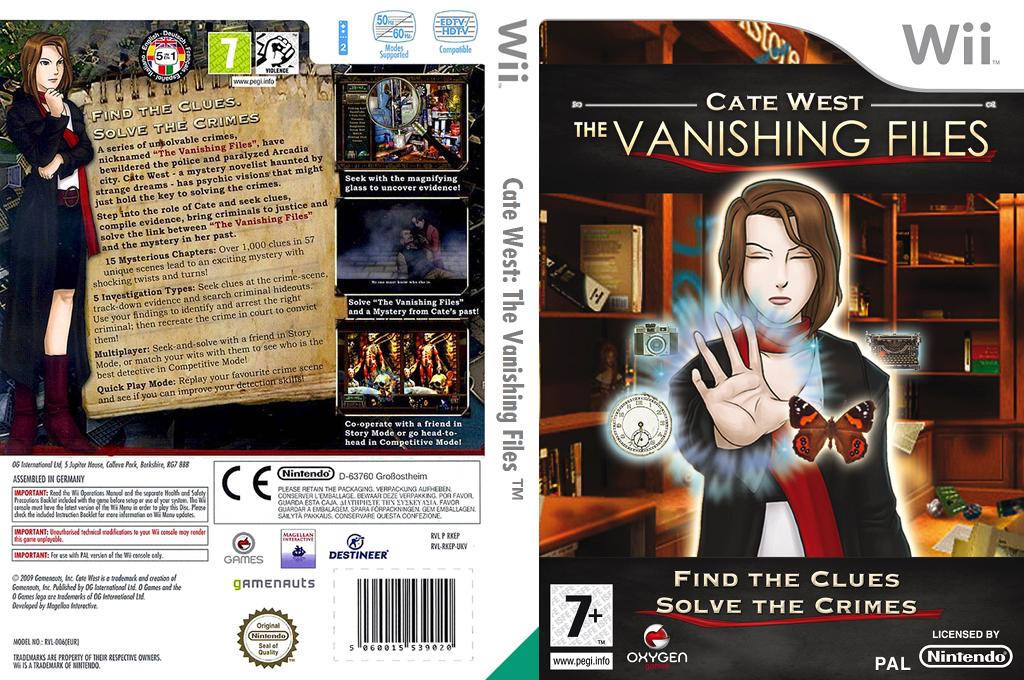 Cate West: The Vanishing Files Wii coverfullHQ (RKEPGN)