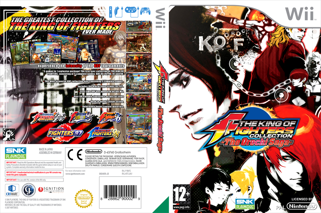 King of Fighters Collection: The Orochi Saga Wii coverfullHQ (RKFP7U)