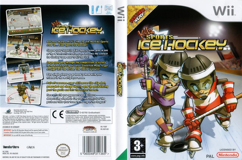 Kidz Sports: Ice Hockey Wii coverfullHQ (RKIPUG)