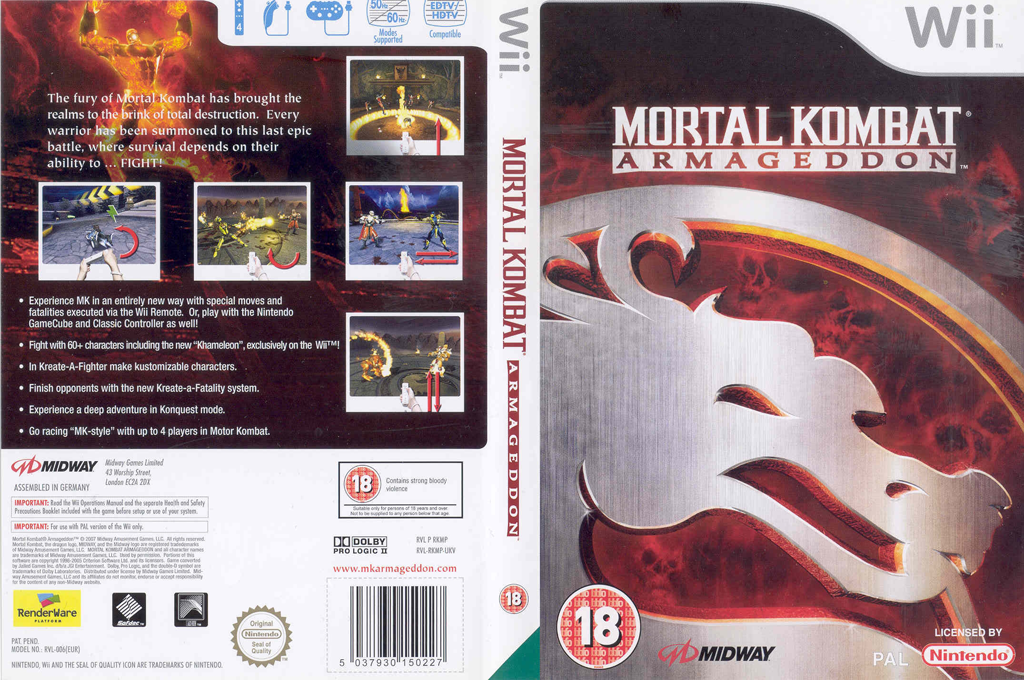 Mortal Kombat: Armageddon Wii coverfullHQ (RKMP5D)