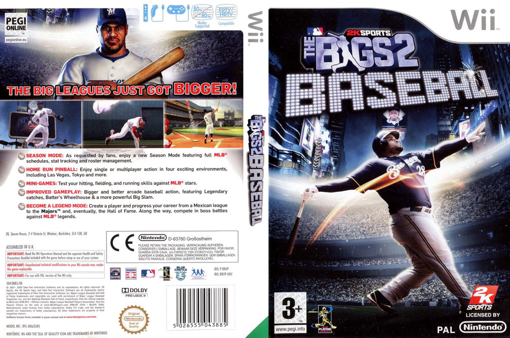 The Bigs 2: Baseball Wii coverfullHQ (RKVP54)