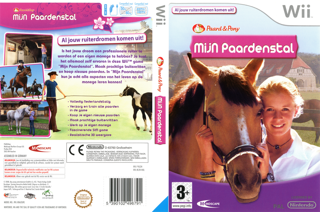 Horse & Pony: My Riding Stables Wii coverfullHQ (RL2HMN)