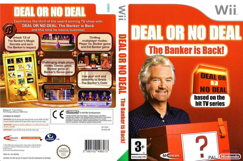 Deal or No Deal: The Banker Is Back Wii coverfullHQ (RLADMR)
