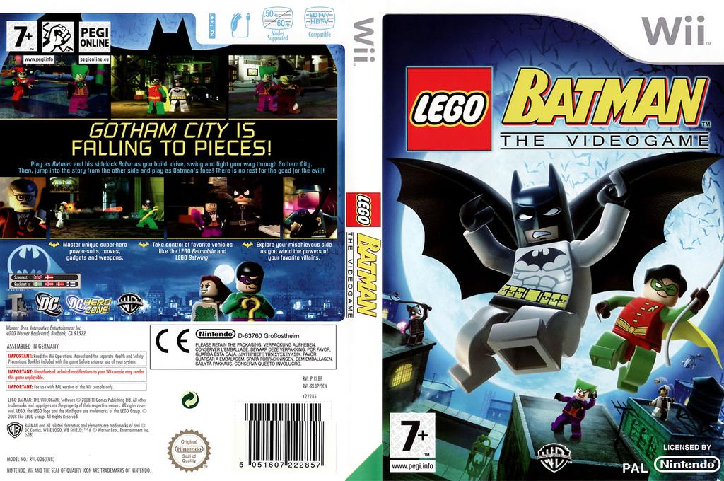 LEGO Batman: The Videogame Wii coverfullHQ (RLBPWR)