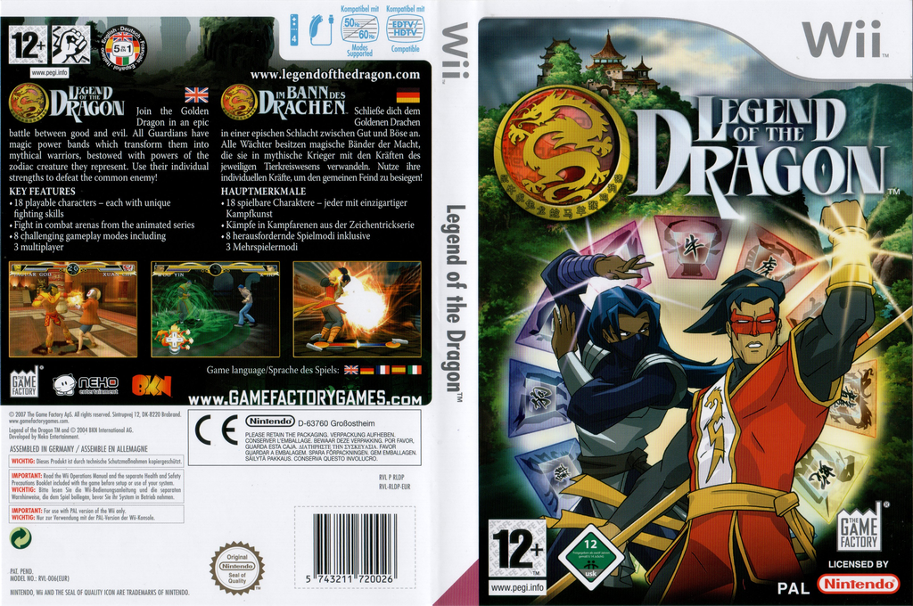 Legend Of The Dragon Wii coverfullHQ (RLDPFK)