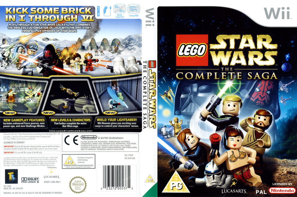 LEGO Star Wars: The Complete Saga Wii coverfullHQ (RLGP64)