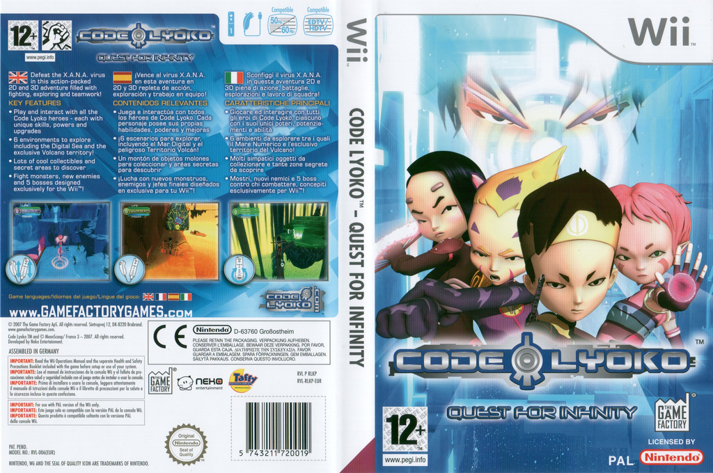 Code Lyoko: Quest for Infinity Wii coverfullHQ (RLKPFK)