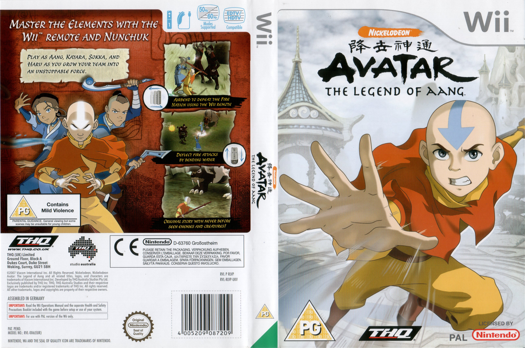 Avatar: The Legend of Aang Wii coverfullHQ (RLVP78)