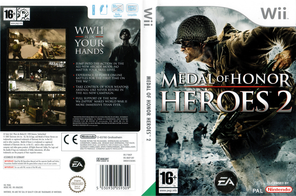 Medal of Honor: Heroes 2 Wii coverfullHQ (RM2P69)