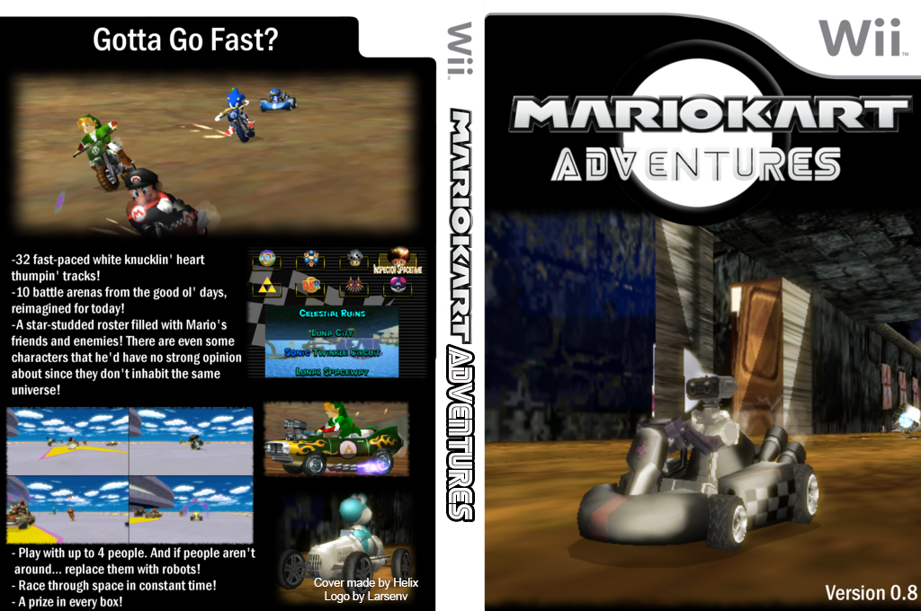 Mario Kart Adventures v0.8 Wii coverfullHQ (RMCPA1)