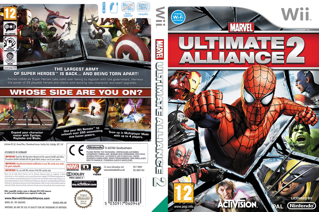 Marvel: Ultimate Alliance 2 Wii coverfullHQ (RMSP52)