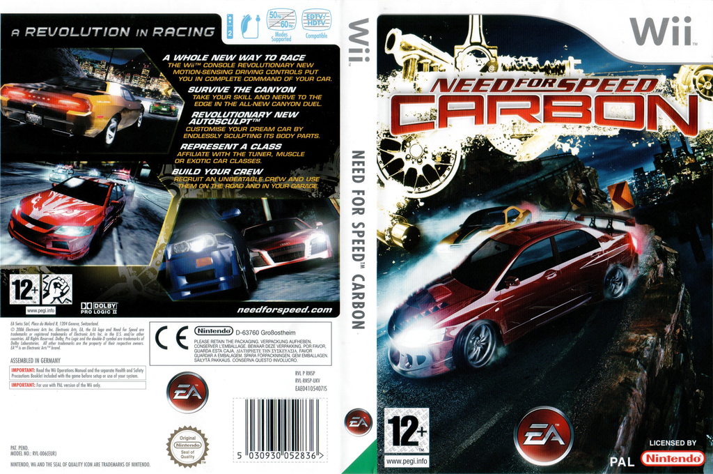 Need for Speed Carbon Wii coverfullHQ (RNSP69)