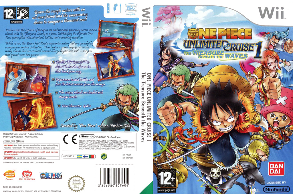 One Piece Unlimited Cruise 1: The Treasure Beneath the Waves Wii coverfullHQ (ROUPAF)